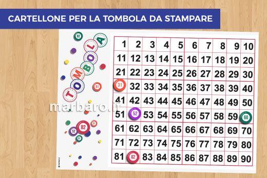 Cartelle Della Tombola Da Stampare Gratis 180 Cartelle In Pdf Da