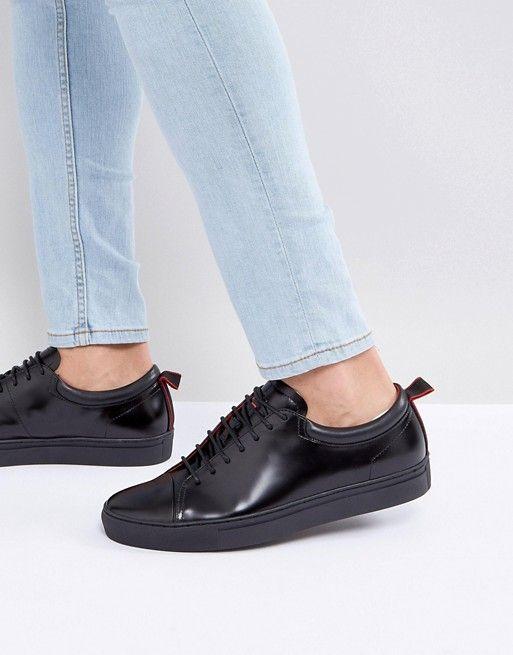 hugo boss leather sneakers