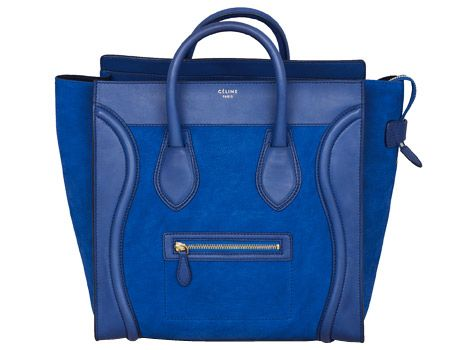 Celine Boston Bag - Blue