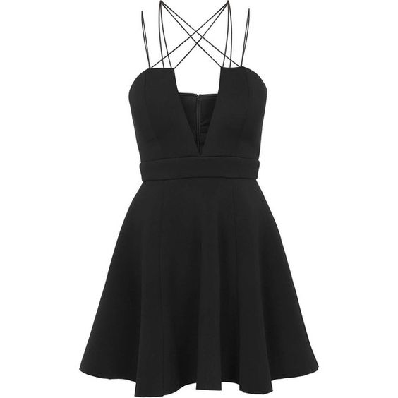 Multi Cross Strap Midi Dress by Rare (210 BRL) ❤ liked on Polyvore featuring dresses, vestidos, short dresses, robes, black, prom dresses, pleated mini dress, strappy dress, cross strap dress and pleated midi dress