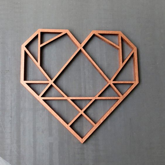 """Buchstaben & Schriftzüge - """"Herz"""" Holz Motiv Deko - ein Designerstück von NOGALLERY bei DaWanda"""