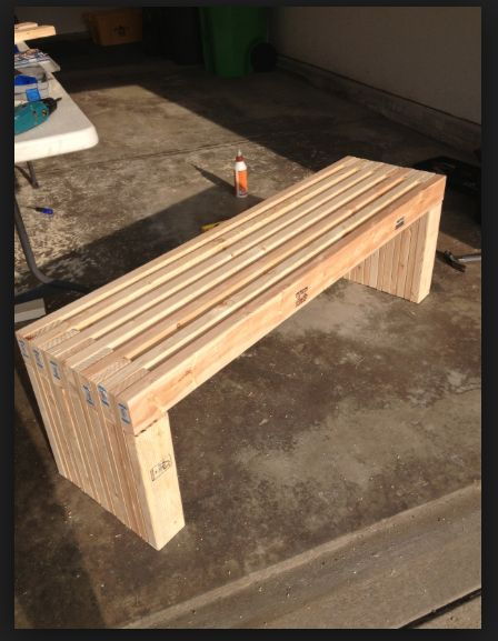 Diy 2x4 Bench Garden Benches Pinterest Benches And