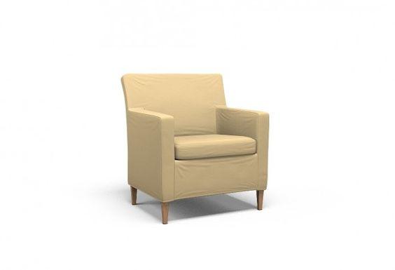 Cover for #IKEA #KARLSTAD Armchair narrow - Rimini Wheat | @covercouch