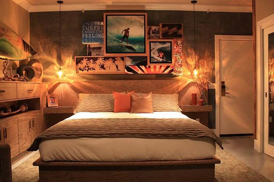 Surf room idea for game room kids 39 room man cave abbelina pinterest surf caves and surf room - Man bedroom photo ...