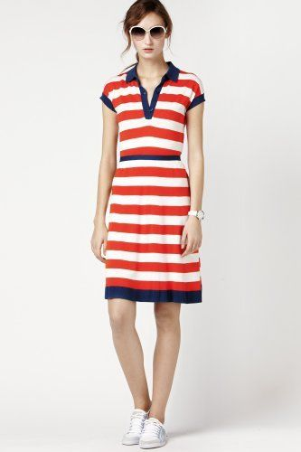 Lacoste bold stripe rugby polo dress. Makes me want to take up ...