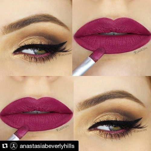 EYES: single shadows Summer collection Amber, Fawn, Cognac and Surface of the Sun with Barbie Pink waterproof cream color in waterline LIPS: Craft #liquidlips #anastasiabeverlyhills