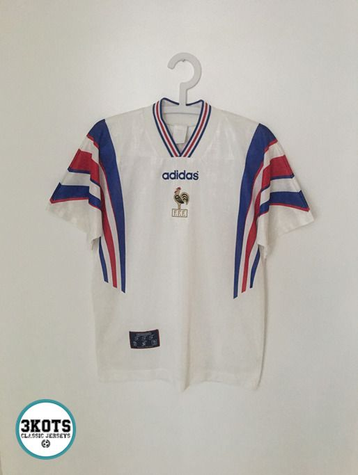 FRANCE 199698 Away Football Shirt (S) Soccer Jersey ADIDAS