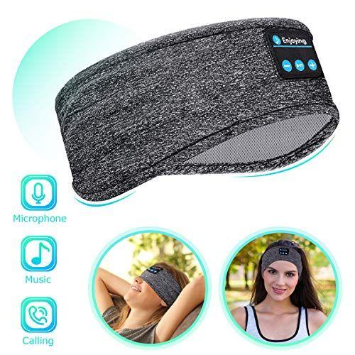 Bluetooth Sleep Headphones Eye Mask Wireless Sports Headband Headphones With Detachable Stereo Thin Speaker For Yogamozart In 2020 Sleep Headphones Sports Headbands Headphones
