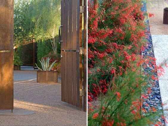 A more modern, waterwise sort of secret garden