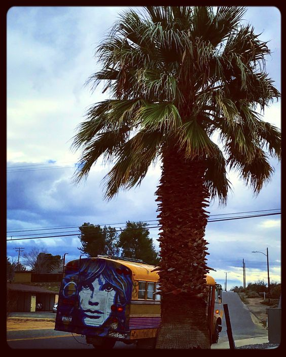 #photography #bus #school #yellow #twinkie #sub #mobile #live #travels #travel #jimmorrison #painting #streetart #art #mural #clouds #pigpaint