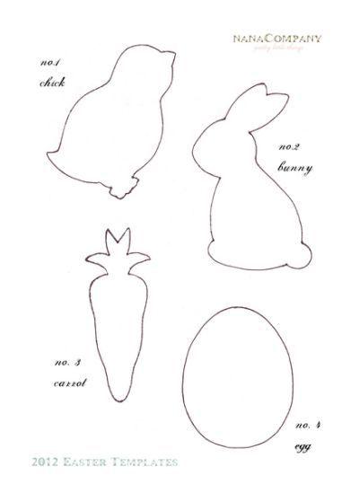Felt Easter Patterns Free Free Printable Easter Easter Templates Fabric Easter Basket Easter Crafts