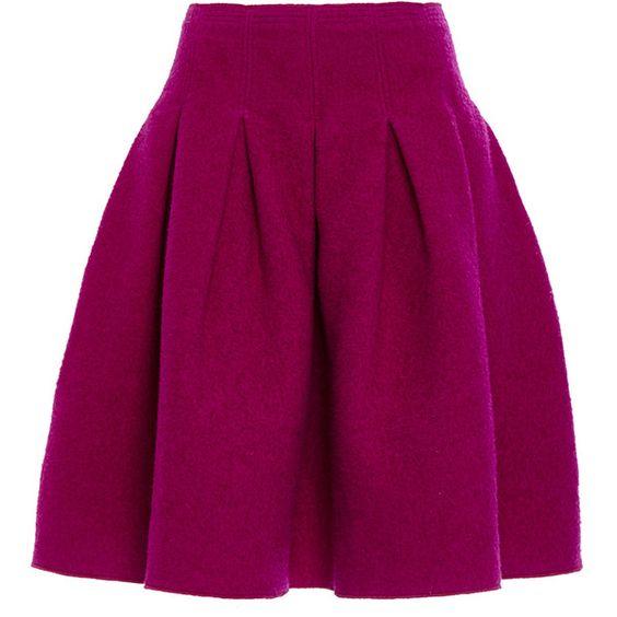 Oscar de la Renta Full Pleated Skirt ($1,290) ❤ liked on Polyvore