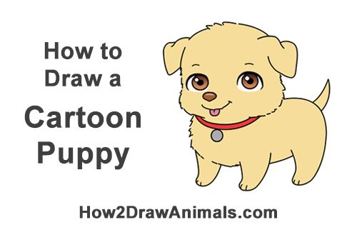 How To Draw A Puppy Cartoon With Images Puppy Cartoon