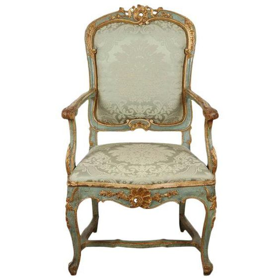 Image of Fine Venetian Rococo Arm Chair: