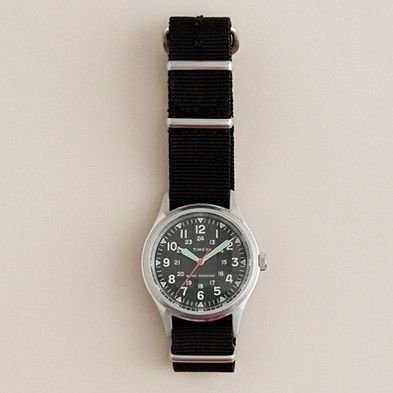 Jcrew Timex military watch $150...OWN :) i need more bands though...8 or so is definitely not enough hahaha