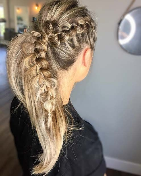21 Cute Hairstyle Ideas For The Holidays Stayglam Braids For Long Hair Braided Ponytail Hairstyles Long Hair Styles