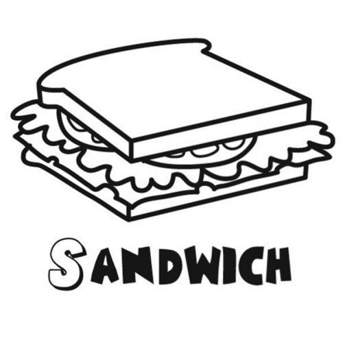 Sandwich Dibujo Para Colorear Coloring Pages Sandwiches Creative Sandwich