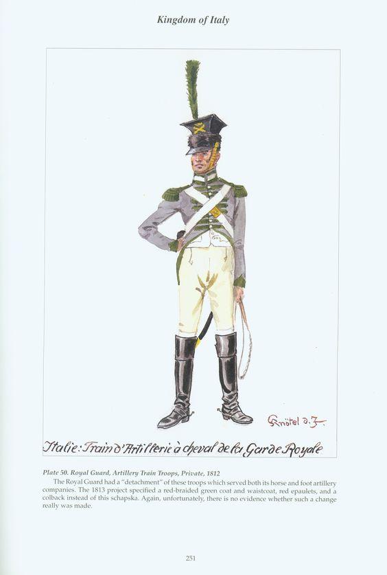 Kingdom of Italy: Plate 50: Royal Guard, Artillery Train ...