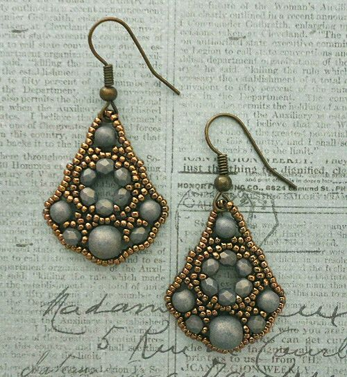 Linda's Crafty Inspirations: Belle of the Ball Earrings - Poppy Seed &…