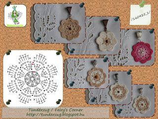 Tündérzug: Horgolt medál - 160425_1 (Crochet Pendent)