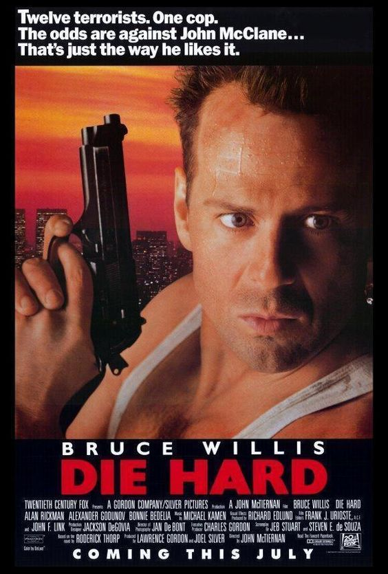 Die Hard Movie Poster 27 X 40 , Bruce Willis, Bonnie Bedelia, A, Licensed