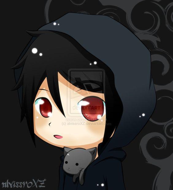 Shrink Anime Boy: Pix For > Boy Chibi With Hoodie
