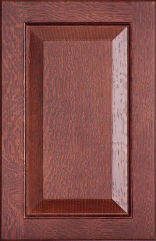 Raised Panel Cabinet Door Collection includes Routed for Glass Cabinet Door,  and Cabinet Drawer Fronts. Shown in Qtr. Sawn