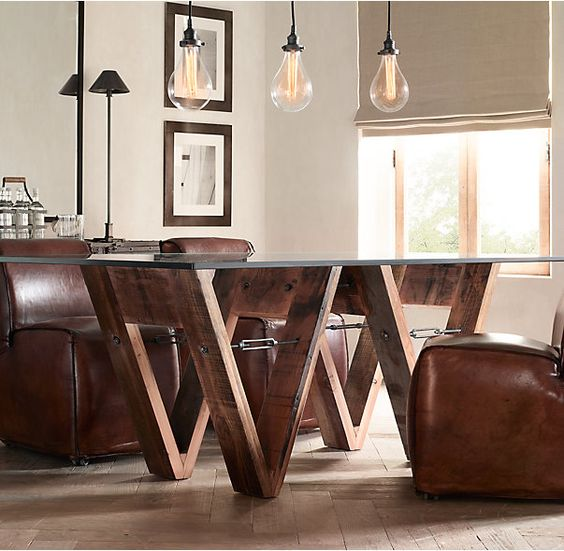 Reclaimed wood dining table los angeles square reclaimed for Reclaimed wood furniture los angeles