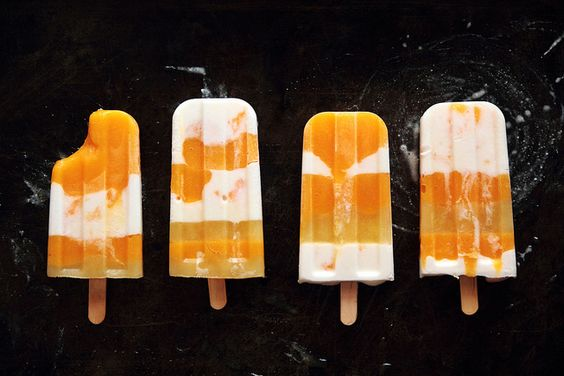 Mango Coconut Striped Popsicles by pastryaffair, via Flickr