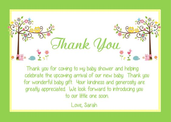 card wording thank you cards baby showers showers cards babies fresh