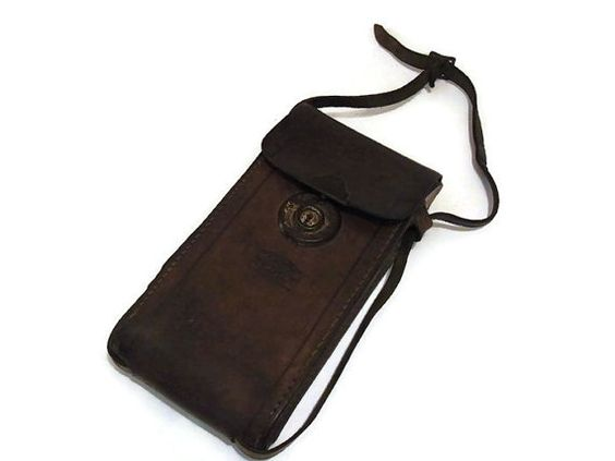 Vintage leather Zeiss Ikon Brown Leather by WhiteHartAntiques