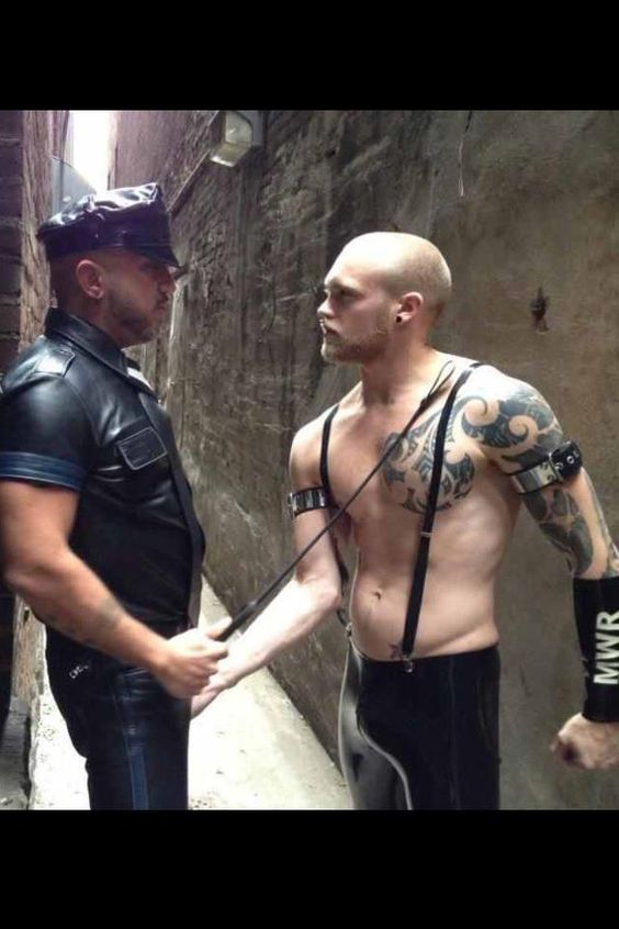 Ginger meets Master in alley