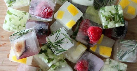 Make Your Water Interesting With Colorful Flavored Ice Cubes - Juicing For Health
