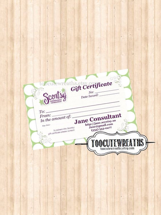 scentsy gift certificate template - 28 images - 17 best images ...
