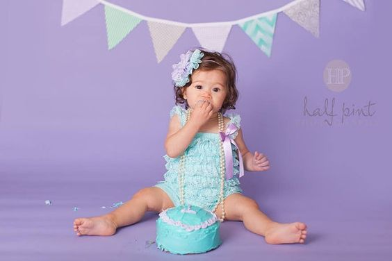 Mermaid Birthday Girl Outfit...Cake Smash by SweetChubbyCheeks