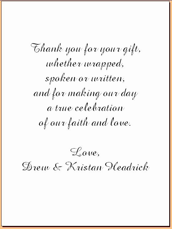 Wedding Thank You Note Template New Wedding Thank You Note Template 2018 Wedding Thank You Cards Wording Thank You Card Wording Thank You Card Examples