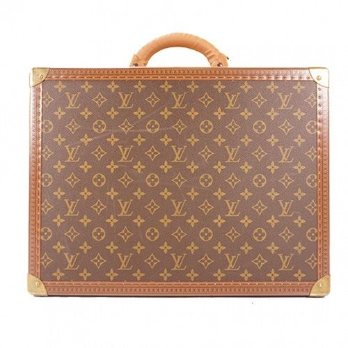 Pre Owned Louis Vuitton Brown Cloth Travel Bag Modesens Louis Vuitton Travel Bags Louis Vuitton Louis Vuitton Travel