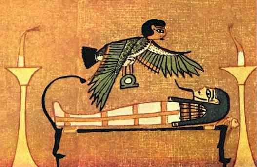 the Egyptian spirit is often said to be divided into three parts: the ka, the ba and the akh .