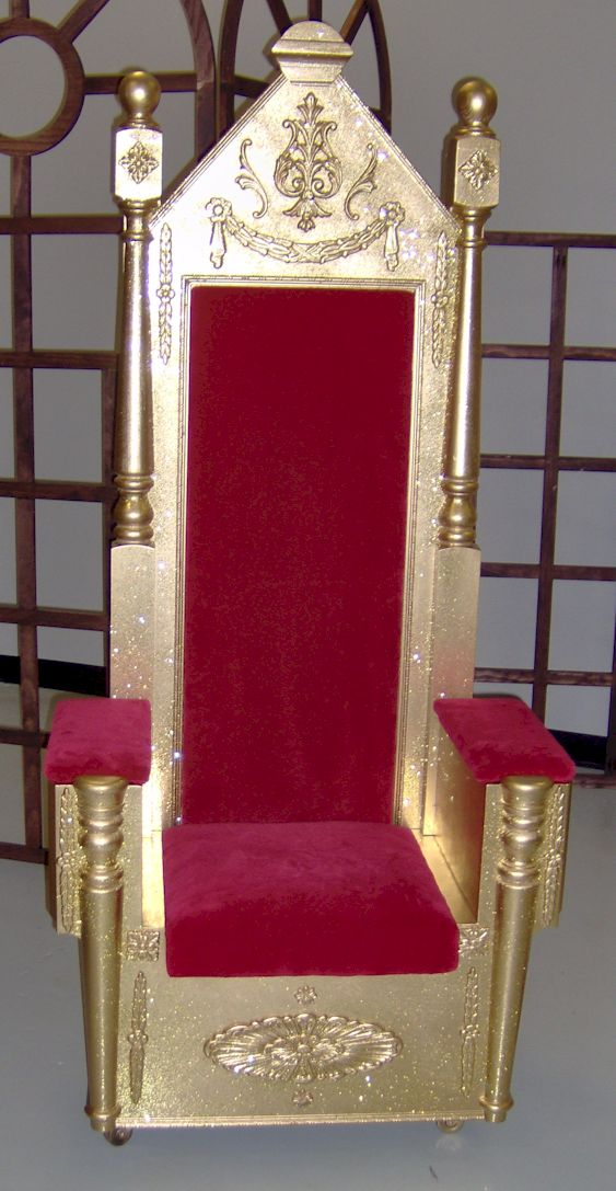 The Teacheru0027s Reading Chair Will Be A Throne. I Wonder If I Can DIY A  Rocking Chair To Look Similiar? Gold Spray Paint, Some Red Velvet Fabric,  ...