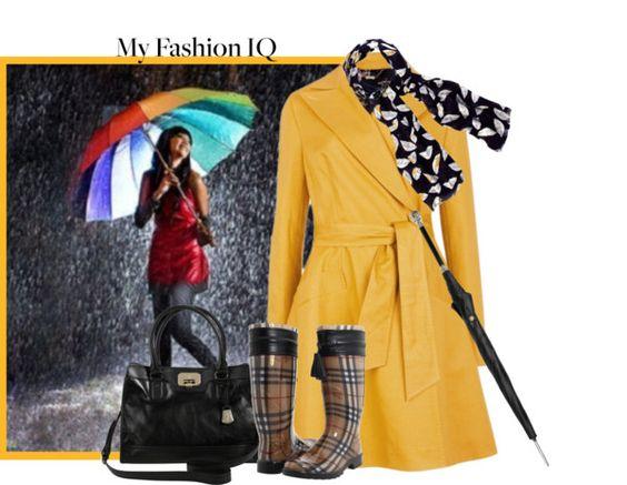 """Fashion IQ: The Raincoat"" by johnna-cameron on Polyvore"