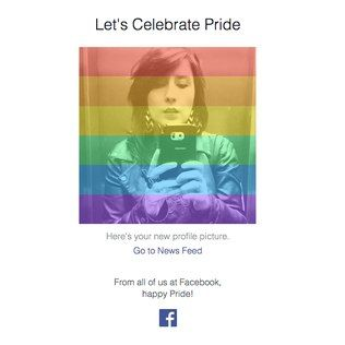 Facebook criou ferramenta para usuários aplicarem um filtro com as cores da bandeira gay na sua foto de perfil