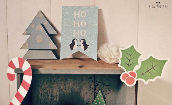 Adornos navideños con imprimibles