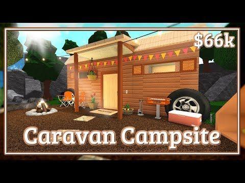 Bloxburg Caravan Campsite Speed Build Youtube Campsite