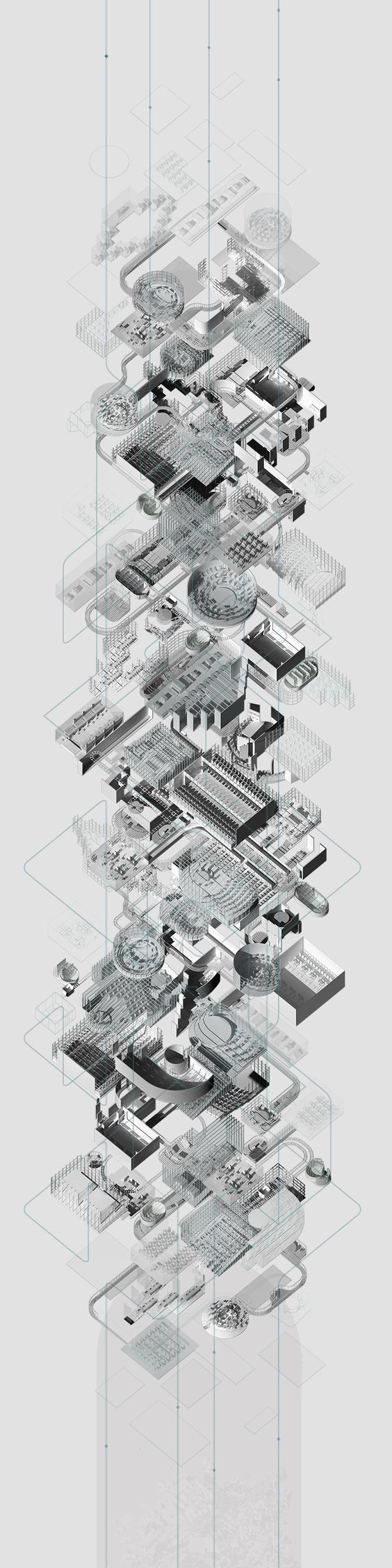 AXO MAP [could be used instead of timeline   breaking down the historical progress of the site] Peter Zsuzsa, AA Intermediate 6, 2015
