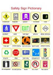 Worksheet Safety Signs Worksheets worksheets safety and english on pinterest worksheet sign pictionary