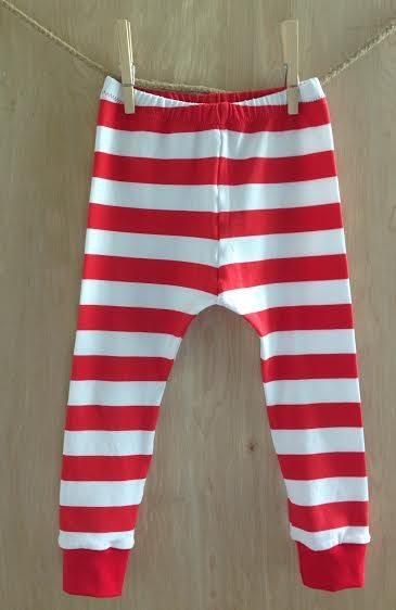 Baby and Toddler Leggings | Red Striped Leggings | Riley Blake Red ...