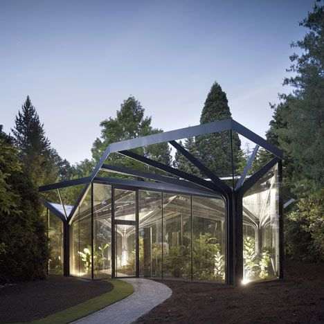 Greenhouse at Grüningen Botanical Garden by Buehrer Wuest Architekten