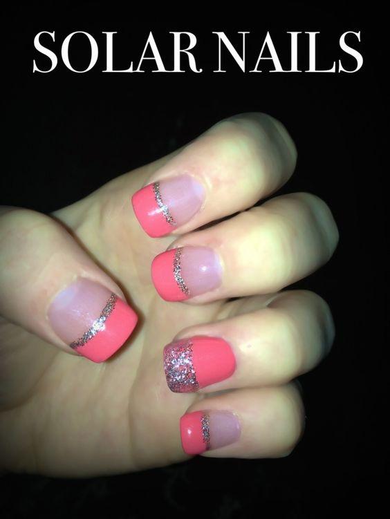 Sparkle blue tips. Solar nails. Love them!! | My Style | Pinterest ...