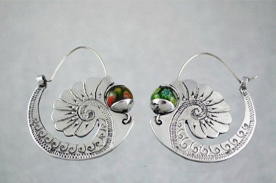 Ethnic jewelry earrings por ArgollasTravieso en Etsy, €30.00