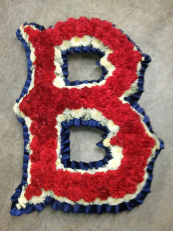 Custom RedSox Floral Tribute by Durocher Florist, West Springfield, MA